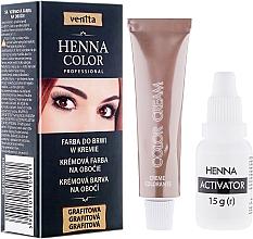 Perfumería y cosmética Tinte en crema para pestañas y cejas - Venita Henna Color
