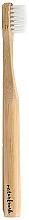 Perfumería y cosmética Cepillo dental infantil de bambú, dureza suave, beige - NaturBrush Kids Toothbrush