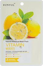 Perfumería y cosmética Mascarilla facial natural de tejido con extracto de limón - Eunyul Natural Moisture Mask Pack Vitamin