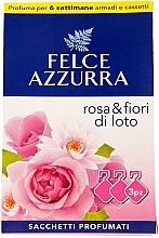 Perfumería y cosmética Sobres aromáticos para ropa, rosa y flor de loto - Felce Azzurra Sachets Rose and Flowers Of Lotus