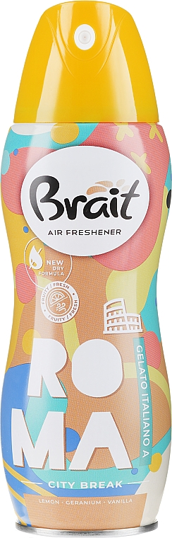 Spray ambientador con limón, geranio y vainilla - Brait Dry Air