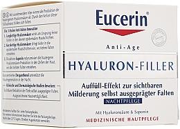 Perfumería y cosmética Crema de noche antiarrugas con ácido hialurónico y manteca de karité - Eucerin Hyaluron-Filler Night
