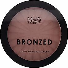 Perfumería y cosmética Polvo bronceador facial mate compacto con arcilla caolín - MUA Bronzed Matte Bronzing Powder