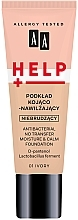 Perfumería y cosmética Base de maquillaje calmante e hidratante con D-pantenol - AA Help Antibacterial No Transfer Moisture & Calm Foundation