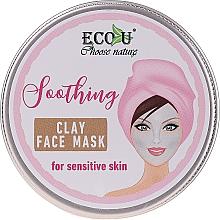 Perfumería y cosmética Mascarilla facial calmante de arcilla con extracto de lavanda, camomila y manteca de karité - Eco U Soothing Clay Face Mask For Sensative Skin
