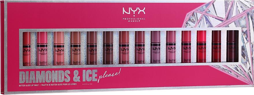 Set - NYX Professional Makeup Diamonds & Ise (brillo labial/14x8ml)