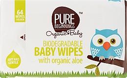 Perfumería y cosmética Toallitas húmedas para niños 64 uds. - Pure Beginnings Biodegradable Aloe Baby Wipes