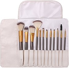 Perfumería y cosmética Set brochas y pinceles de maquillaje en funda, 12uds. - Lewer