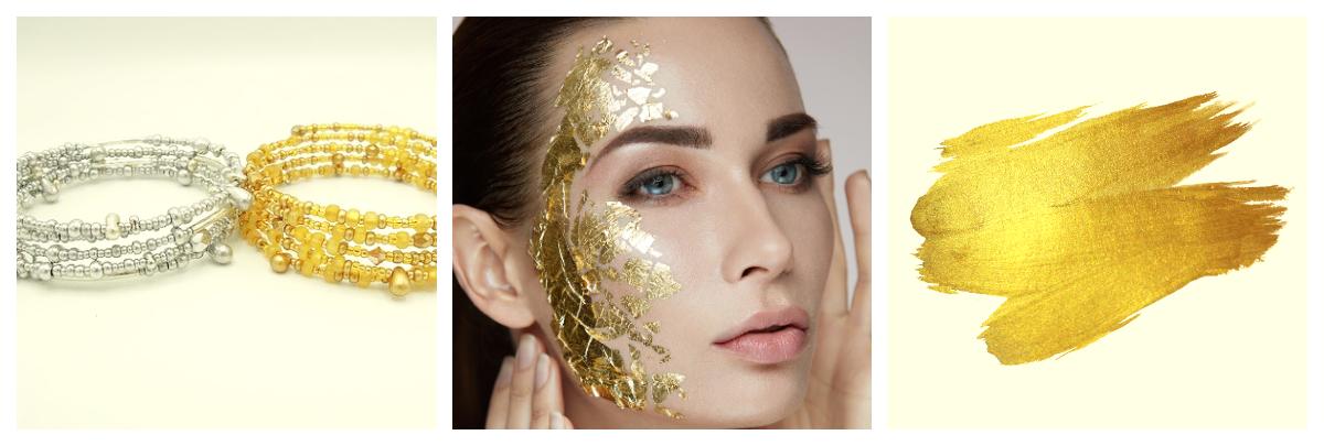El oro y la plata en la cosmética