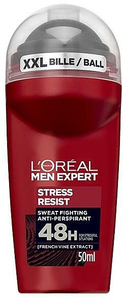 Desodorante roll-on antitranspirante - L'Oreal Paris Men Expert Stress Resist 48H Anti-Perspirant Deo Roll-On