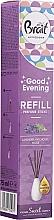 Perfumería y cosmética Recarga para difusor de aroma, lavanda (varitas+aceite de fragancia) - Brait Home Sweet Home Good Evening