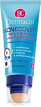 Perfumería y cosmética Base de maquillaje con aplicador con aceite de árbol de té - Dermacol Acnecover Make-Up and Corrector