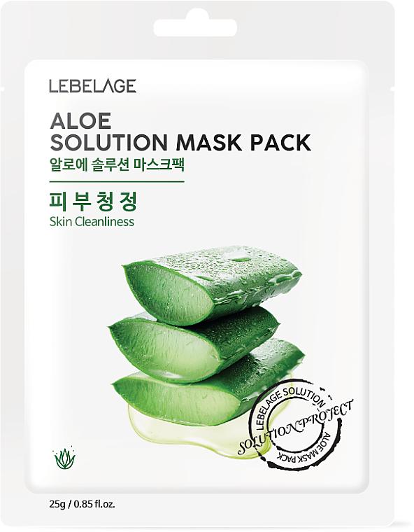 Mascarilla facial con polvo de aloe vera - Lebelage Aloe Solution Mask
