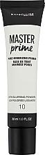 Perfumería y cosmética Prebase de maquillaje - Maybelline Master Prime 10 Pore Minimizing