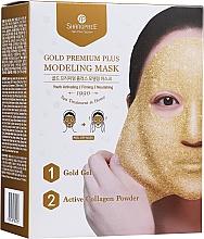 Perfumería y cosmética Mascarilla facial modeladora con gel dorado y polvo de colágeno activo - Shangpree Gold Premium Modeling Mask