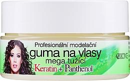 Perfumería y cosmética Cera modeladora para cabello con pantenol y queratina - Bione Cosmetics Keratin + Panthenol Professional Ultra Strong Sculpting Rubber