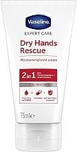 Perfumería y cosmética Crema de manos hidratante y antibacteriana con vitamina E y glicerina - Vaseline Expert Care Dry Hands Rescue 2in1 Moisturising Hand Cream