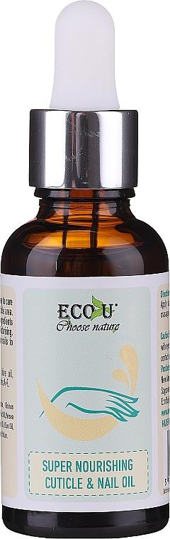 Aceite nutritivo para uñas y cutículas con oliva y semilla de cáñamo - Eco U Super Nourishing Cuticle & Nail Oil