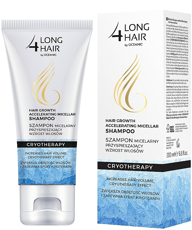 Champú micelar con mentol y glicerina - Long4Lashes Krioterapia Micellar Shampoo