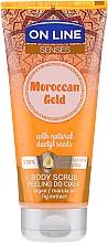 Perfumería y cosmética Exfoliante corporal con extracto de higo & aceites de argán & marula - On Line Senses Body Scrub Moroccan Gold