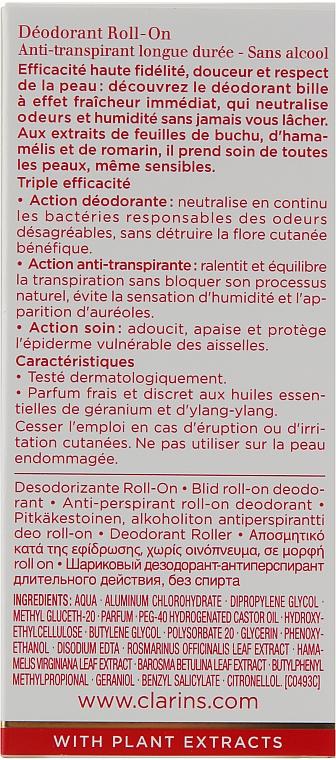 Desodorante roll-on antitranspirante, sin alcohol - Clarins Gentle Care Roll-On Deodorant — imagen N3