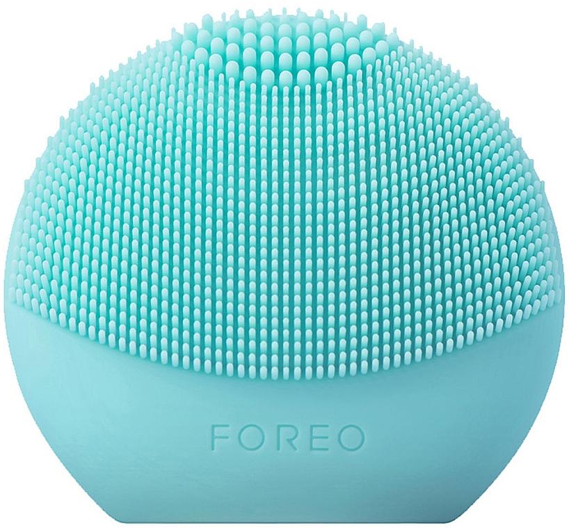 Cepillo de limpieza facial inteligente de silicona 2 en 1, azul claro - Foreo Luna Fofo Smart Facial Cleansing Brush Mint