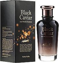 Perfumería y cosmética Emulsión facial con aceite de canola y extracto de caviar negro - Holika Holika Black Caviar Anti-Wrinkle Emulsion