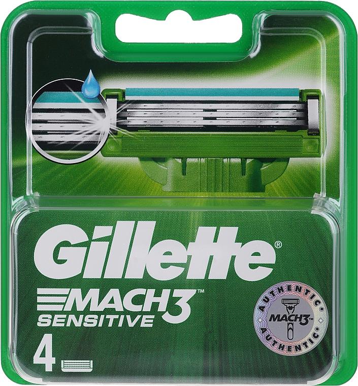 Recambios de cuchillas, 4uds. - Gillette Mach3 Sensitive