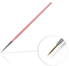 Perfumería y cosmética Pincel para decoración de uñas, 6mm - Silcare Brush 0 Pink