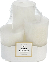 Perfumería y cosmética Set de velas aromáticas - Artman Glass Classic Perfume №8 Lino Blanco Candle (vela /3uds.)