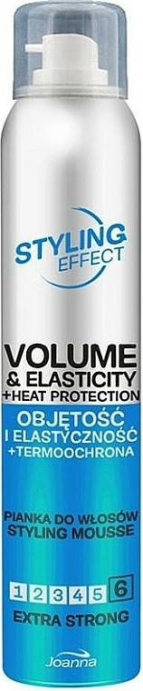 Mousse para cabello voluminoso y elástico con fijación extra fuerte - Joanna Styling Effect Styling Mousse Extra Strong
