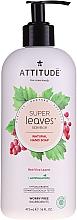 Perfumería y cosmética Jabón natural de manos con hojas de uva roja - Attitude Natural Red Vine Leaves Foaming Hand Soap
