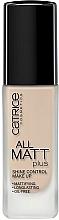 Perfumería y cosmética Base de maquillaje matificante de duración larga - Catrice All Matt Plus Shine Control Make Up