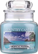 Perfumería y cosmética Vela en tarro con aroma a almizcle & jazmín - Country Candle Tropical Waters