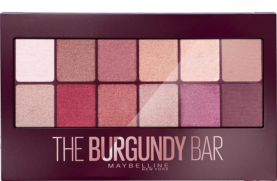 Paleta de sombras de ojos, 12 colores - Maybelline The Burgundy Bar Palette — imagen N1
