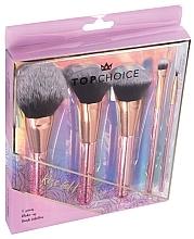 Perfumería y cosmética Set brochas y pinceles de maquillaje, 5uds., 37351 - Top Choice Rose Gold