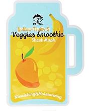 Perfumería y cosmética Mascarilla facial de tejido nutritiva con extracto de mango y banana - Dr. Mola Yellow Fruits & Veggies Smoothie Sheet Mask