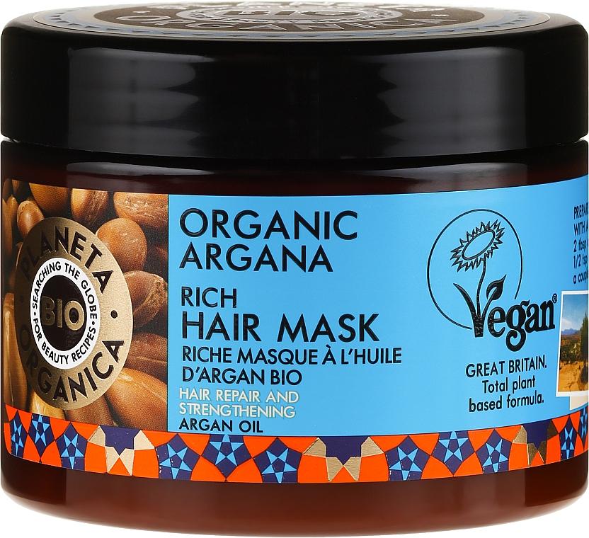 Mascarilla capilar reparadora con aceite de argán - Planeta Organica Organic Argana Rich Hair Mask