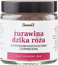 Perfumería y cosmética Mascarilla facial natural con arándano y rosa silvestre - Iossi Face Mask