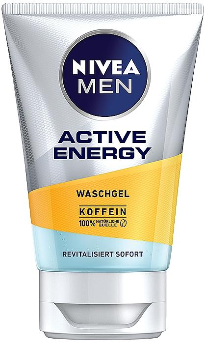 Gel de limpieza facial con cafeína - Nivea Men Active Energy Caffeine Face Wash Gel