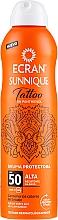 Perfumería y cosmética Bruma protectora para piel con o sin tatuaje - Ecran Sunnique Tattoo Protective Mist SPF50