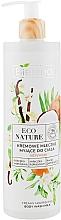 Perfumería y cosmética Leche de baño nutritiva con extracto de vainilla y aceite de coco, vegana - Bielenda Eco Nature Creamy Body Wash Milk Vanilla Coconut Milk Orange Blossom