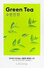 Perfumería y cosmética Mascarilla facial de tejido con extracto de té verde - Missha Airy Fit Green Tea Sheet Mask
