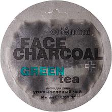 Perfumería y cosmética Mascarilla facial con carbón de bambú y té verde - Cafe Mimi Charkoal & Green Tee Face Mask