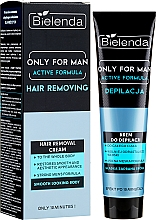 Perfumería y cosmética Crema depilatoria para hombres con extracto de centella asiática - Bielenda Only For Man Active Formula Cream