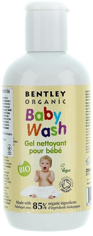 Gel de ducha para cuerpo y cabello con manteca de karité, aloe vera y vitamina E - Bentley Organic Baby Wash