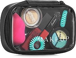 Perfumería y cosmética Neceser cosmético transparente (14x9x5cm) - MakeUp Compact, vacío