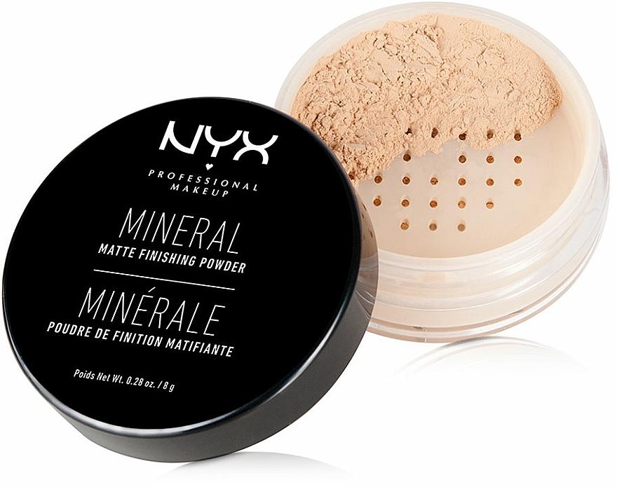 Polvo suelto mineral con efecto mate, vegano - NYX Professional Makeup Mineral Matte Finishing Powder