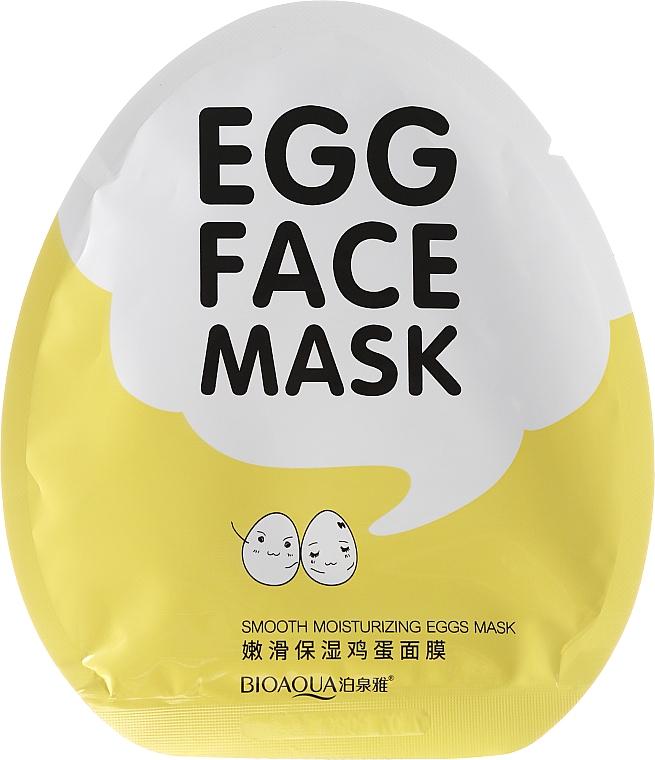 Mascarilla facial de tejido con extracto de proteína de huevo - Bioaqua Egg Face Mask