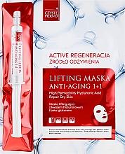 Perfumería y cosmética Mascarilla facial con ácido hialurónico + sérum con extracto de avellano de bruja - Czyste Piekno Active Regeneration + Serum